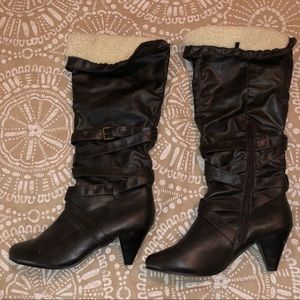 Rue 21 Brown leather like boots